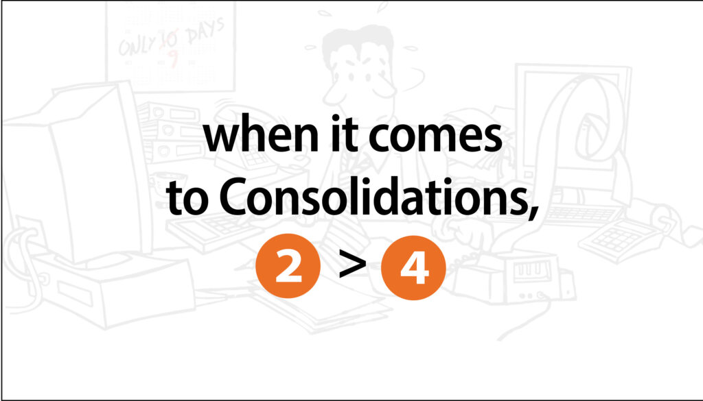 Consolidations 2 > 4